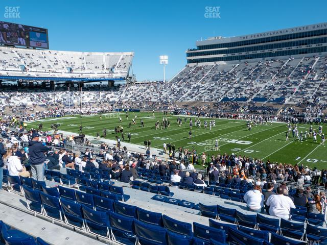 Beaver Stadium Section West B view