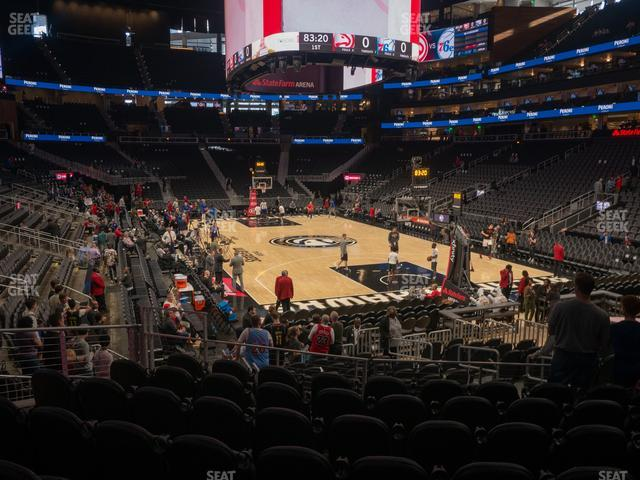 State Farm Arena Section 115 view