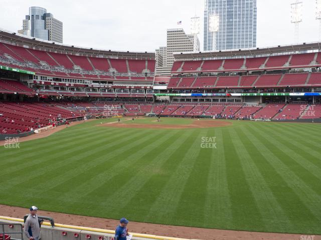 Great American Ball Park Section 142 view