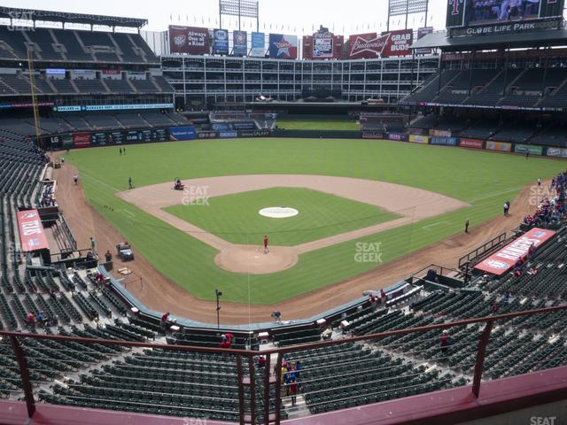 Globe Life Park Section 227 view