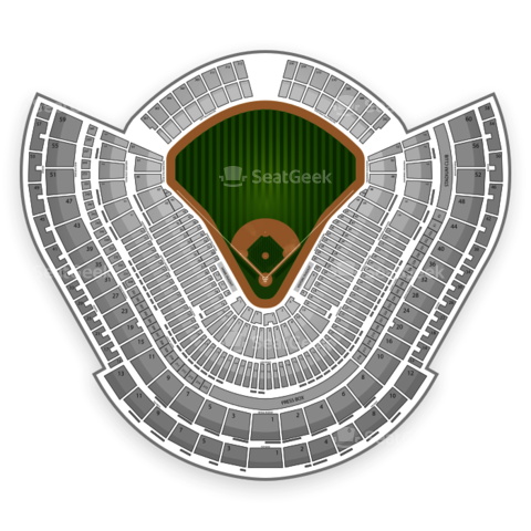 Dodger Stadium seating chart Los Angeles Dodgers