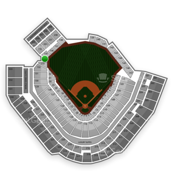Pittsburgh Pirates at PNC Park Section 134 View