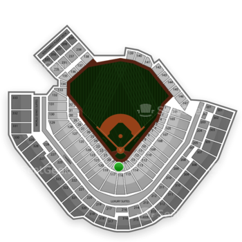 Pittsburgh Pirates at PNC Park Section 17 View