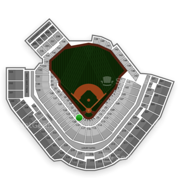 Pittsburgh Pirates at PNC Park Section 20 View