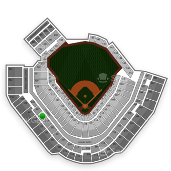 Pittsburgh Pirates at PNC Park Section 225 View