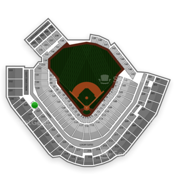 Pittsburgh Pirates at PNC Park Section 228 View