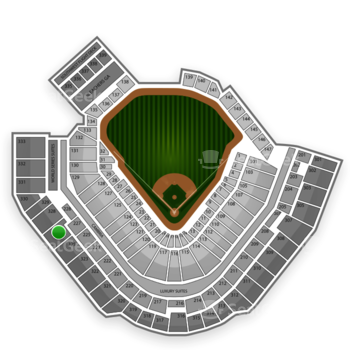 Pittsburgh Pirates at PNC Park Section 327 View