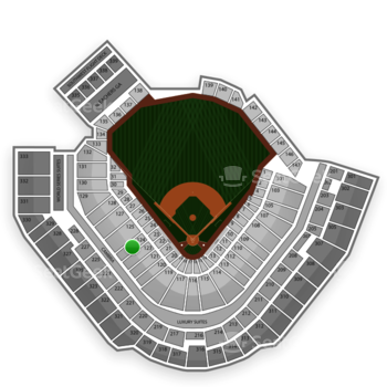 Pittsburgh Pirates at PNC Park Section 124 View