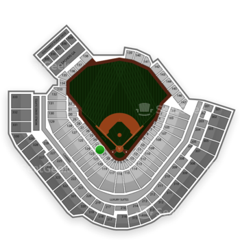Pittsburgh Pirates at PNC Park Section 22 View