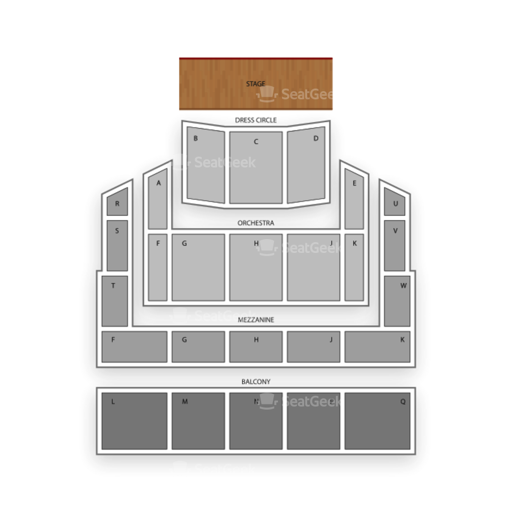 Duke Energy Center for the Performing Arts Seating Chart Comedy