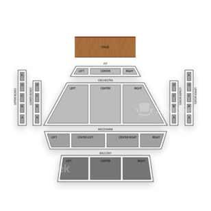 Curtis M Phillips CTR for Perf Arts Seating Chart Dance Performance Tour