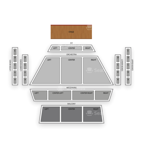 Curtis M Phillips Center for Performing Arts Seating Chart Concert