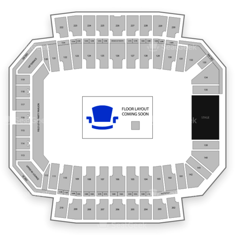 Columbus Crew Stadium seating chart Kenny Chesney