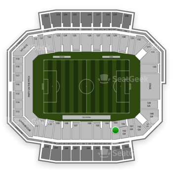 Columbus Crew SC at MAPFRE Stadium Section 103 View
