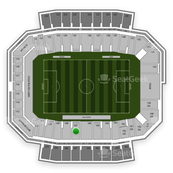 Columbus Crew SC at MAPFRE Stadium Section 107 View