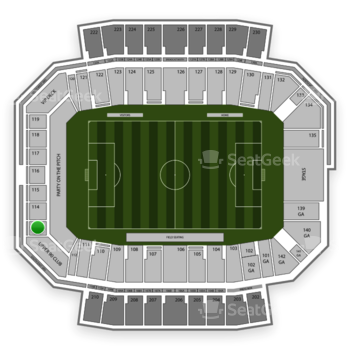 Columbus Crew SC at MAPFRE Stadium Section 113 View