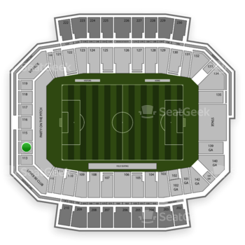Columbus Crew SC at MAPFRE Stadium Section 114 View