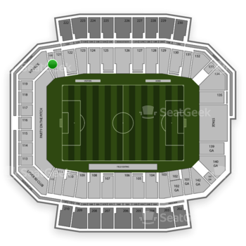Columbus Crew SC at MAPFRE Stadium Section 120 View