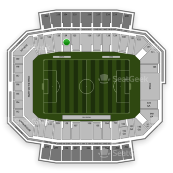 Columbus Crew SC at MAPFRE Stadium Section 124 View