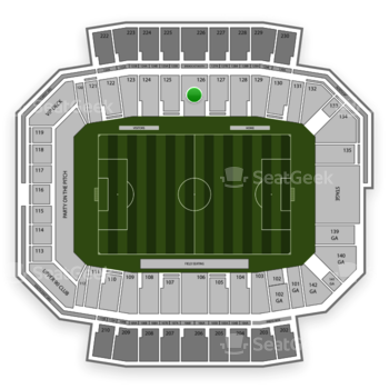 Columbus Crew SC at MAPFRE Stadium Section 126 View