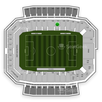 Columbus Crew SC at MAPFRE Stadium Section 127 View