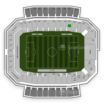 Columbus Crew SC at MAPFRE Stadium Section 129 View