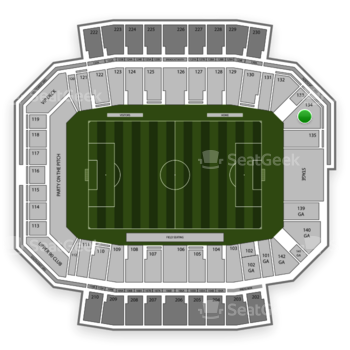 Columbus Crew SC at MAPFRE Stadium Section 134 View
