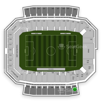 Columbus Crew SC at MAPFRE Stadium Section 202 View