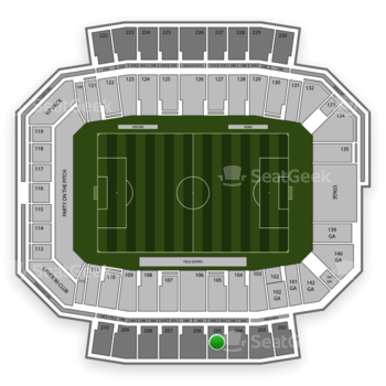 Columbus Crew SC at MAPFRE Stadium Section 205 View