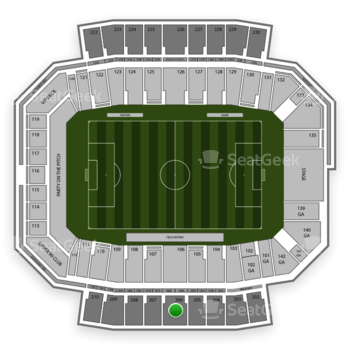 Columbus Crew SC at MAPFRE Stadium Section 206 View