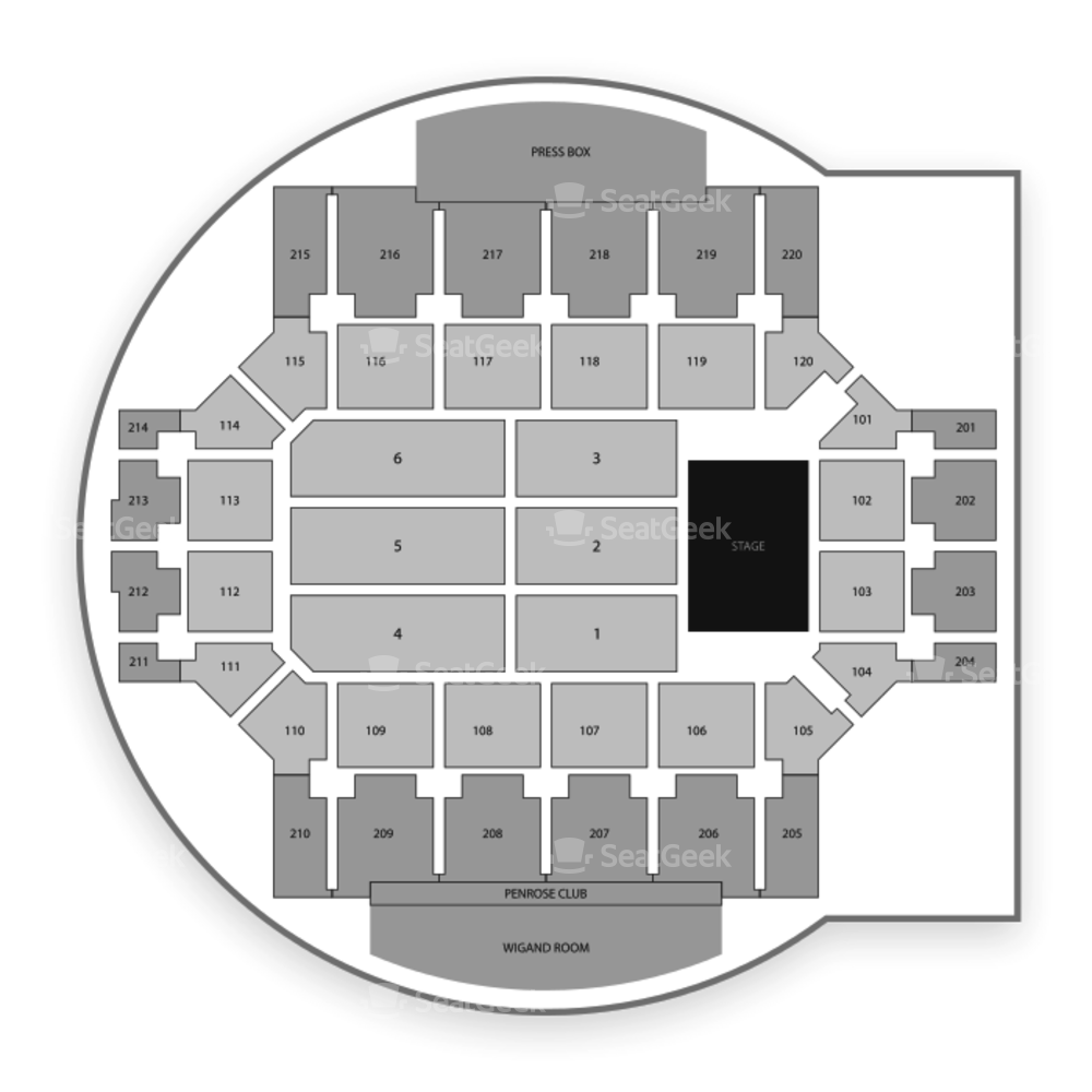 Broadmoor World Arena Seating Chart Comedy