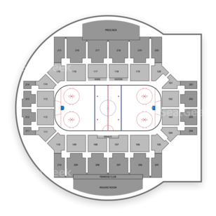 Colorado College Tigers Hockey Seating Chart