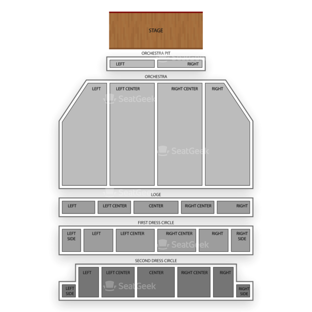 Providence Performing Arts Center Seating Chart Broadway Tickets National