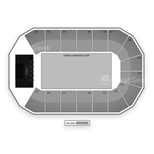 Santa Ana Star Center Seating Chart Concert