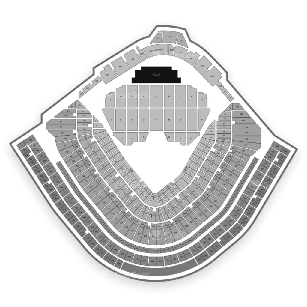 wrigley field seating chart & map | seatgeek