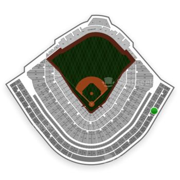 Chicago Cubs at Wrigley Field Upper Deck Reserved Outfield 533 View