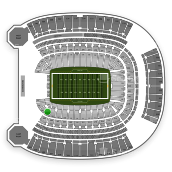 Pittsburgh Panthers Football at Heinz Field Section 105 View