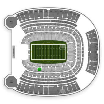 Pittsburgh Panthers Football at Heinz Field Section 108 View