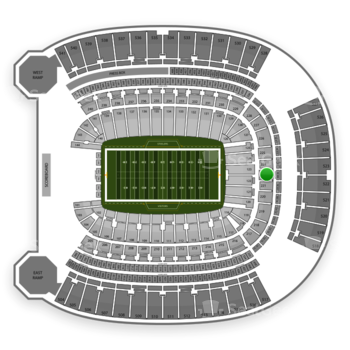 Pittsburgh Panthers Football at Heinz Field Section 223 View
