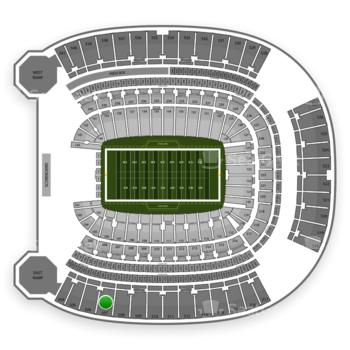 Pittsburgh Panthers Football at Heinz Field Section 507 View