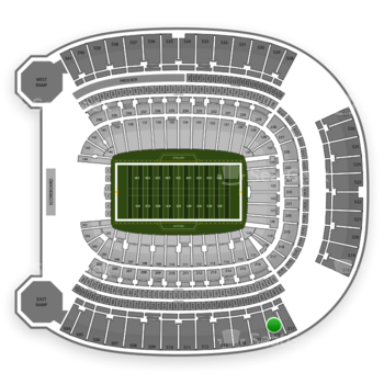 Pittsburgh Panthers Football at Heinz Field Section 516 View