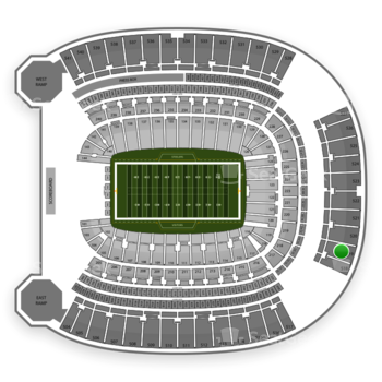 Pittsburgh Panthers Football at Heinz Field Section 519 View