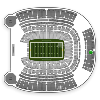 Pittsburgh Steelers at Heinz Field Section 522 View