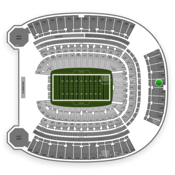 Pittsburgh Steelers at Heinz Field Section 523 View
