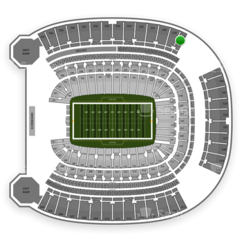 Pittsburgh Steelers at Heinz Field Section 528 View
