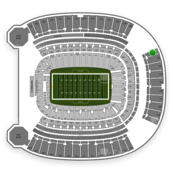 NCAA Football at Heinz Field Section 527 View