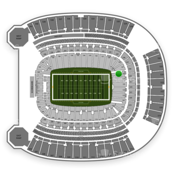 Pittsburgh Panthers Football at Heinz Field Section 125 View