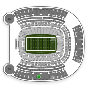 Pittsburgh Panthers Football at Heinz Field Section 510 View