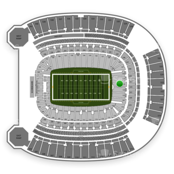 Pittsburgh Steelers at Heinz Field Section 123 View