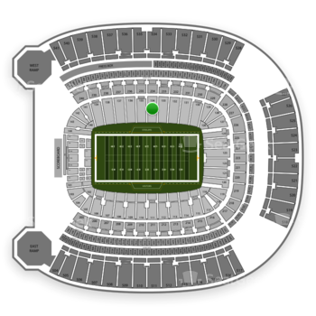 Pittsburgh Steelers at Heinz Field Section 134 View